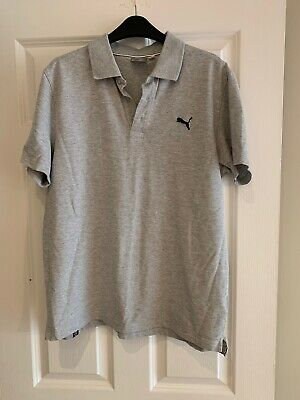 Mens Puma Polo Shirt, Grey, Size L