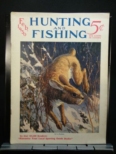 Hunting and Fishing Magazine Vintage February 1930 Issue Free Shipping!