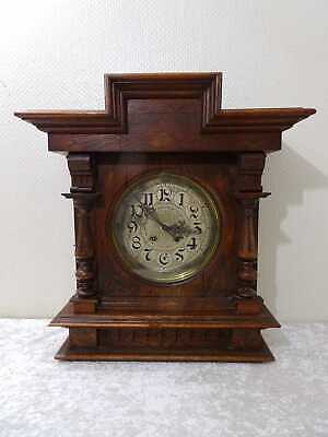 Antique Lenzkirch Squire Wood Wall Clock Vintage around 1890 Defective For Craft