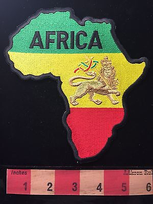 LARGE AFRICA CONTINENT MAP PATCH ~ AFRICAN NATIONS COUNTRY  ~ Lion Of Judah 64M