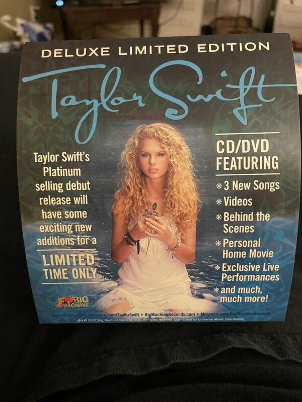 Taylor Swift First CD Cardboard Display Mint