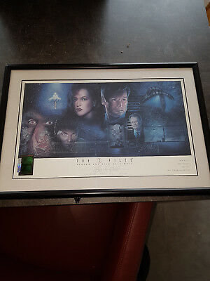 Extremely Rare! The X Files Art Lithograph Signed Limited Edition of 2500