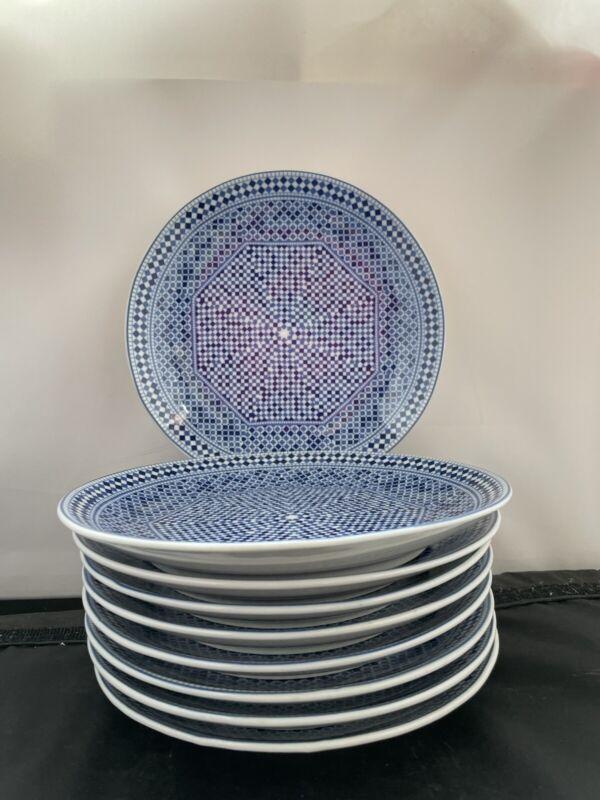 Rare (9) COCEMA PORCELAIN FES MOROCCO Salad plates