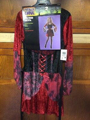 NWT TOTALLY GHOUL WICKED DEVIL Halloween Women's Sz Med Costume FAST SHIP