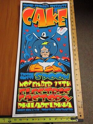 2001  Rock Roll Concert Poster Cake & Spoon Wood SN LE#200 Electric Factory