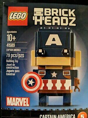 LEGO BrickHeadz Captain America 2017 (41589) Marvel 79 Pieces #5 In Series