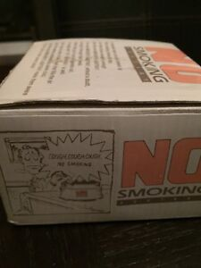 "Rare Vintage Retro ""No Smoking"" Black Talking & Coughing Ashtray"