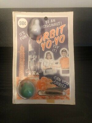 Vintage Orbit Yo Yo Astronaut 1960's toy still in pack New