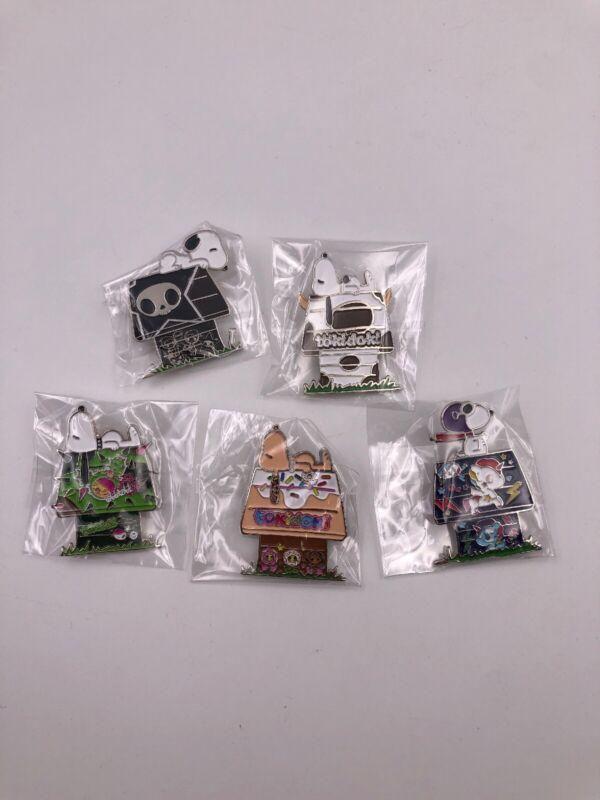 SDCC Tokidoki x Peanuts Enamel Pins: Set of 5 (B3)