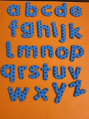 Pixel Premium ABC Magnets ABC Letters A-Z Blue Stars Fridge Replacement All 26