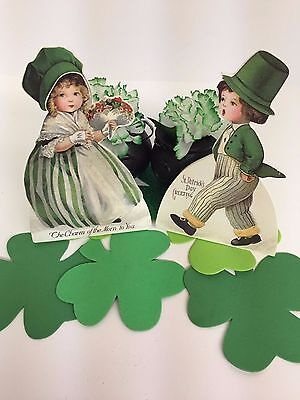 Bethany Lowe St. Patrick's Dummy Boards (RL4705): Sold as a Set of 2