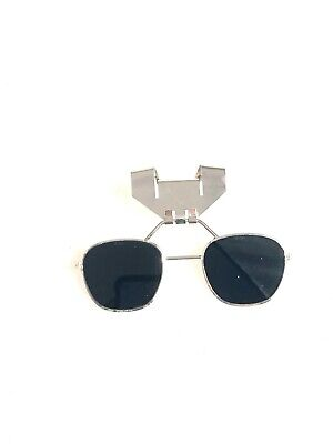 Vintage Hard Hat Clip On Welding Glasses - Free Shipping