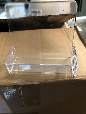 20 New Clear Acrylic Plastic Business Card Display Desk Stand Desktop Holder