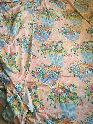 Vintage 1989 'Summer Garden' flower print  cotton Tabbycat designs - 2meters +