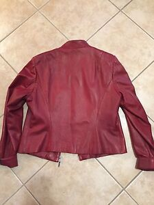 Women's Red leather jacket  Peterborough Peterborough Area image 3