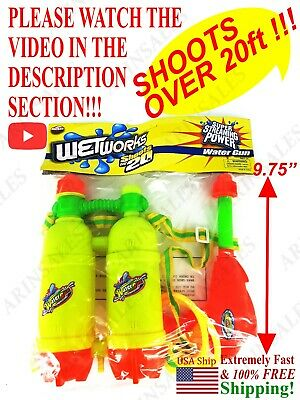 Water Gun Backpack Large Capacity Super Blaster Pump Squirts 20 ft ! SEE VIDEO !
