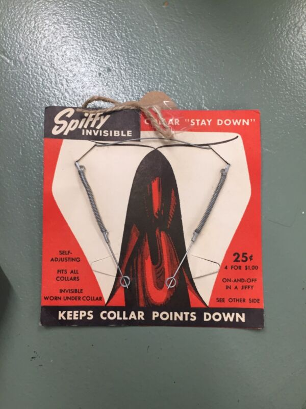 Spiffy Invisible Collar 1940s Vintage set of 4 for the Collector on your list!!