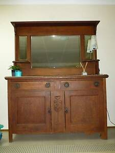PRICE REDUCD - Old Mirrored Sideboard with shelves Nowra Nowra-Bomaderry Preview