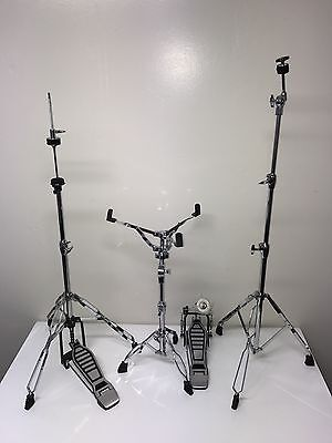 ddrum Double Braced 4 Piece Hardware Pack snare, hi-hat, foot pedal, cymbal