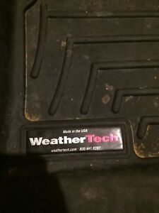 Weather tech floor mats full set perfect for the winter weather