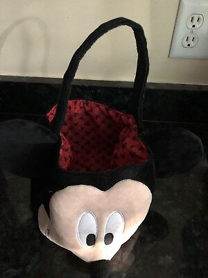 Disney Mickey Mouse Stuffed Plush Easter Basket Or Trick Or Treat Halloween