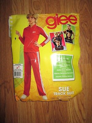 Womens GLEE SUE TRACK SUIT 70'S Halloween Costume Standard Size up to 12 (Glee Halloween)