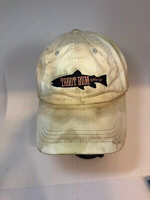 Orvis Trout Bum Cream beige Adjustable Fishing Trucker - Bum Hats