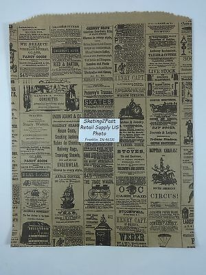 12 X 15 Newsprint Design Paper Merchandise Bag Retail Shopping