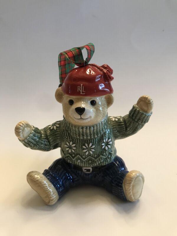 Ralph Lauren Bear Ornament -New