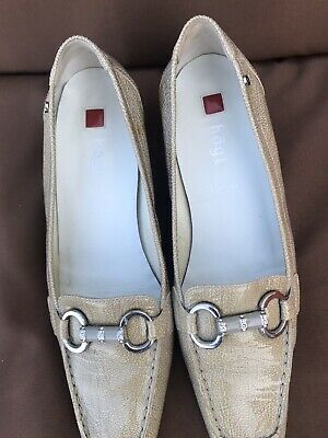 Högl Court Shoes Swarovski Elements Stone Vachetta Leather Size UK 7 Comfort