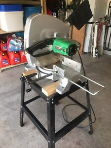 """Hitachi 15"""" Mitre Saw.  Model 380mm C15FB with Stand."""