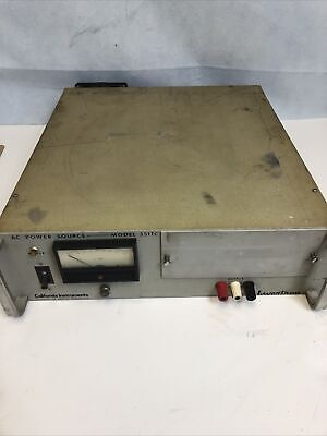 California Instruments 351tc Power Supply Ac As-is Untested Power Cable Cut