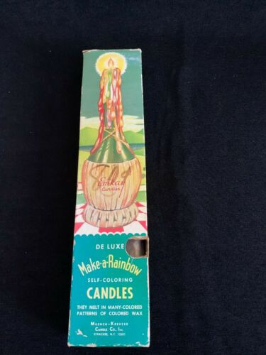 Vintage Emkay De Luxe Make-a-Rainbow Self Coloring Drip Candles Muench Kreuzer