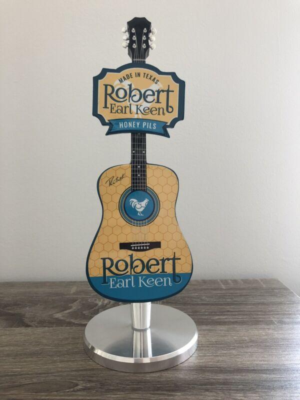 Pedernales Robert Earl Keen Honey Pils Guitar Rock N Roll Rare Beer Tap Handle