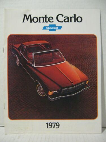 1979 Chevrolet Monte Carlo Coupe Landau Car Dealer Sales Brochure Catalog