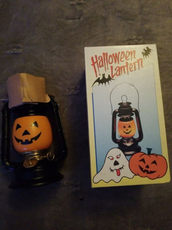 Never Used NEW RARE Vintage Halloween DIETZ Jack O Lantern Pumpkin with Box