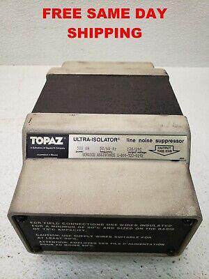 Topaz Ultra Isolator Noise Suppressor 91095-31 120240 V Item 748852-l6