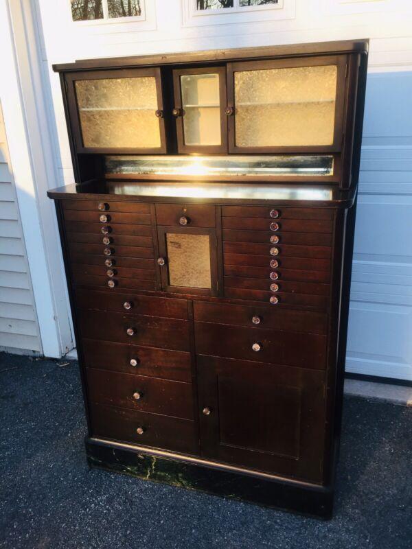 Antique Mahogany Dentist Cabinet - American Cabinet Co. GV BLACK Winchester, IL.