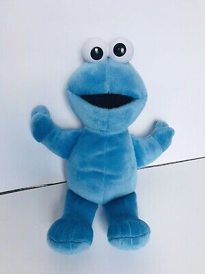 "Cookie Monster Soft Plush Floppy 12"" Stuffed Animal Blue Sesame Street 2002"