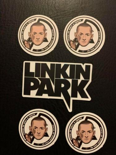 """Lot of (5) LINKIN PARK 3"""" x 1 1/2""""  Logo Sticker FAST! FREE! Castle of Glass"""