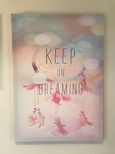 Keep on dreaming canvas photo