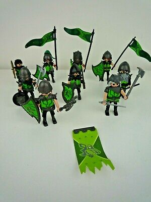 PLAYMOBIL CASTLE BARBARIANS FIGURES  WITH SHIELDS WEAPONS & BANNERS / KNIGHTS
