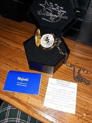 Walt Disney World 25th Anniversary Limited Edition of 2000 Pocket Watch Majesti
