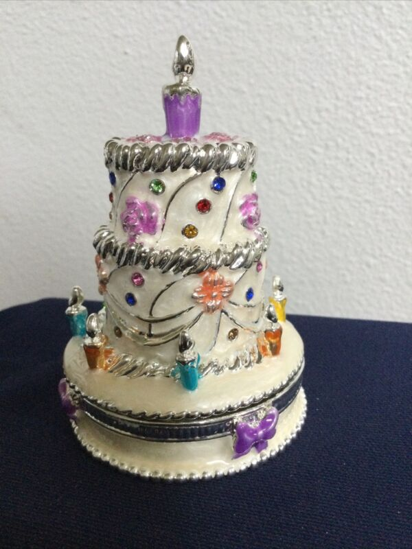 KEREN KOPAL TIERED CAKE TRINKET BOX. GREAT COLLECTION PIECE, OR SPECIAL GIFT.