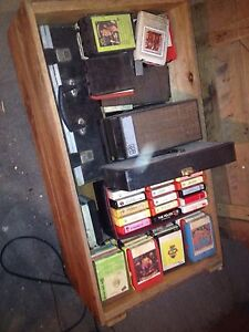 approx 120 8 track tapes and player