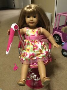 Doll bike, car, salon chair, wheelchair and scooter.