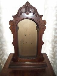 Antique Clock Case 17 1/2 Tall 11 1/2 Wide Wood Hinged Door