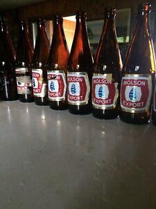 Full Case of Old Quart Beer Bottles