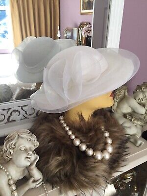 Ladies Vintage Hat( Yessica )White