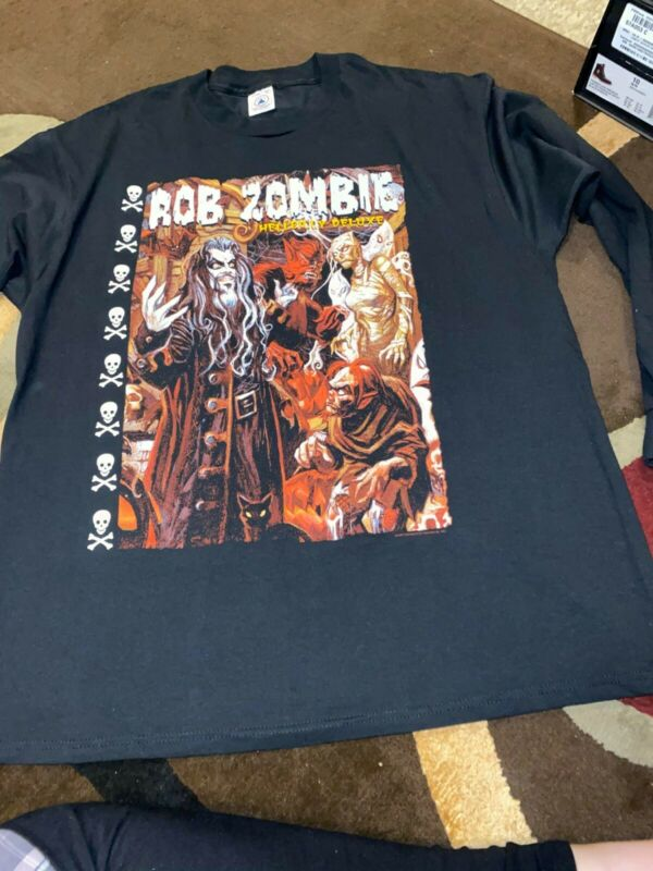 Vintage - Rob Zombie Hellbilly Deluxe - Long Sleeve T-Shirt - NEW - 1998 - XL